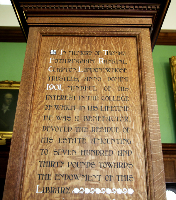 Panel in Westminster Library