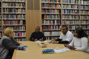 Students having a supervision in Wesley library